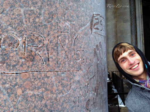 Isaakievskiy Cathedral - Leaving my mark on the ice