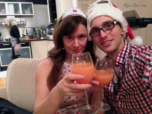 S Novym godom! - Happy New Year in Russian.